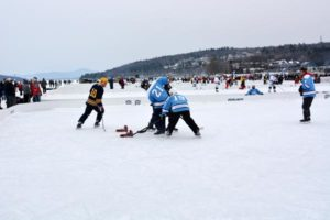 The 5th Annual New England Pond Hockey Classic in Meredith, NH, 2014.