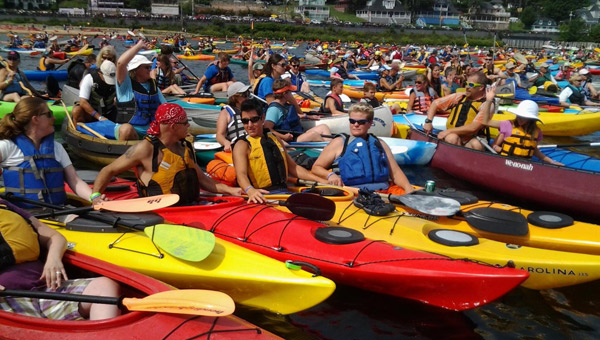 New Hampshire Lakes Association set a Guinness World Record at LakeFest 2014: Raft-a-Palooza!