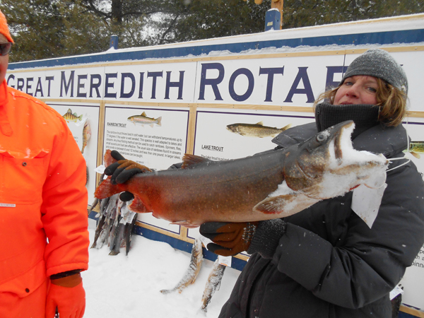 The Great Meredith Rotary Ice Fishing Derby, Lake Winnipesaukee