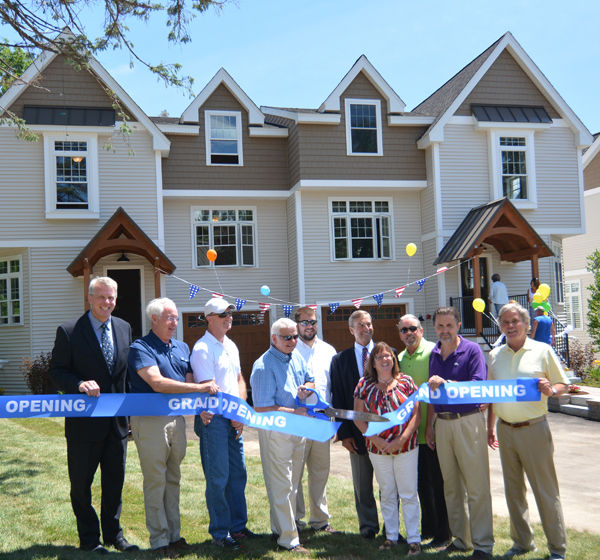 Ribbon Cutting for the Lake Houses at Christmas Island