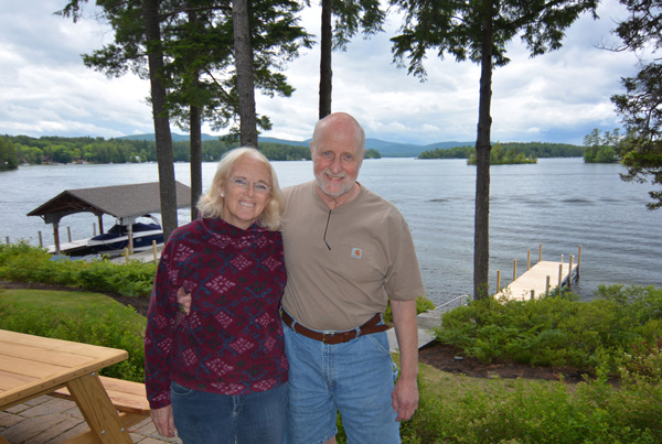 Christine King and Jack Telefus at their new home in Alton, NH