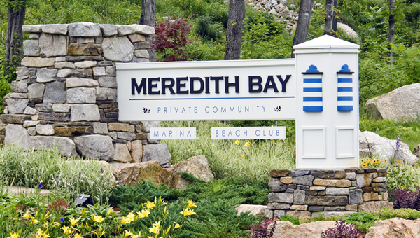 Meredith Bay is a private community of upscale townhomes with a beach club on Lake Winnipesaukee