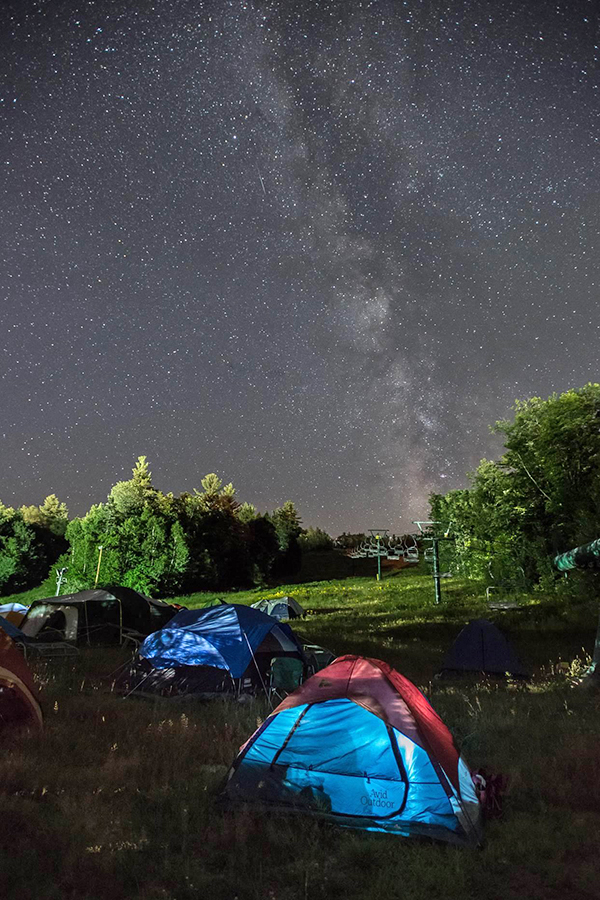 Camping under the stars at this year's SoulFest at Gunstock Mountain. Photo courtesy of Paul Rogers Photography.