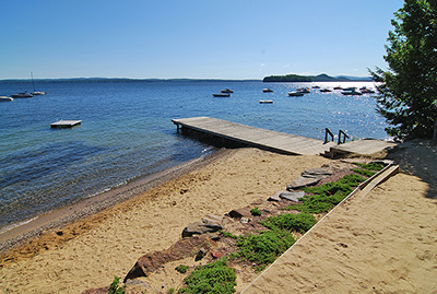 Gunstock Acres Beach on Lake Winnipesaukee, Gilford, NH