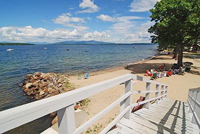 lake shore park in Gilford, NH