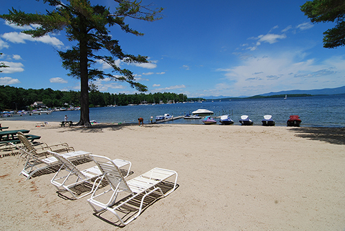 Misty Harbor Beach on Lake Winnipesaukee