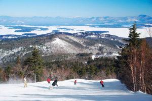 Skiing at Gunstock Mountain
