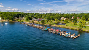 The Docks at South Down Shores on Lake Winnipesaukee