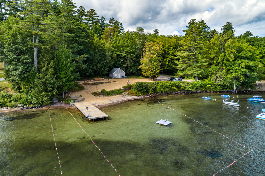 Gunstock Acres Beach on Lake Winnipesaukee, NH