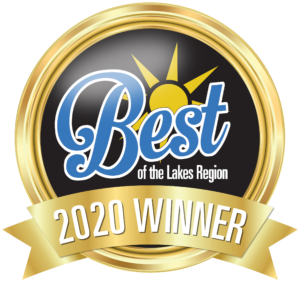 "Roche Realty Group voted Best Real Estate Company in the ""Best of Lakes Region"" contest, 2020"