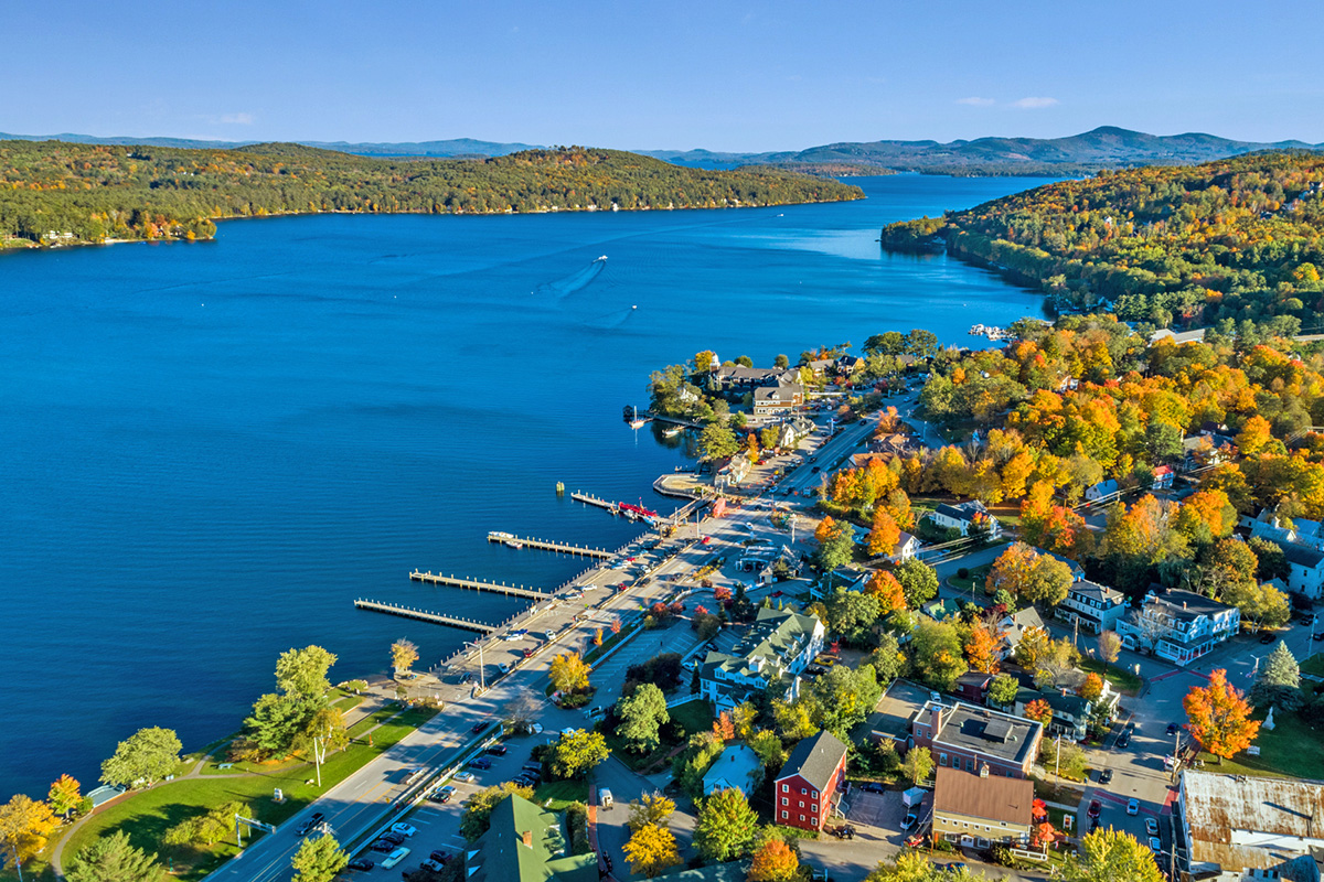 Meredith Village on Lake Winnipesaukee, New Hampshire