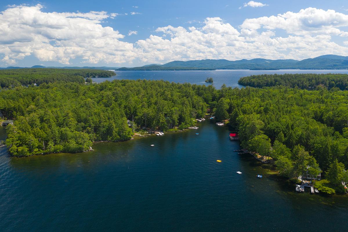 Birds eye view of Lakes Region New Hampshire