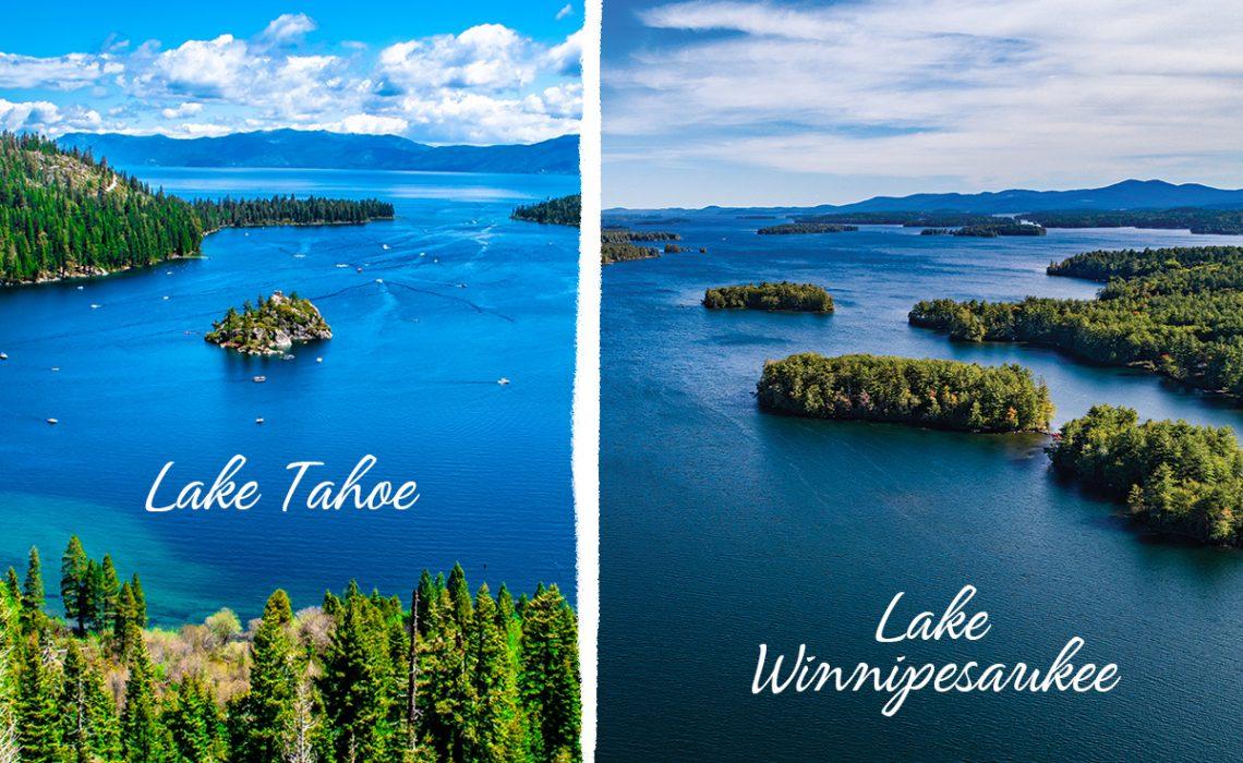 Hot real estate markets surrounding Lake Tahoe, California, and Lake Winnipesaukee, New Hampshire