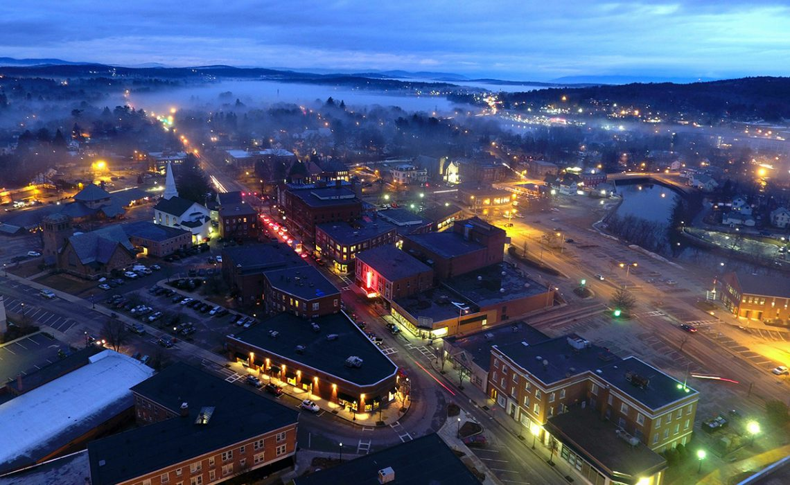 Night picture of Laconia NH