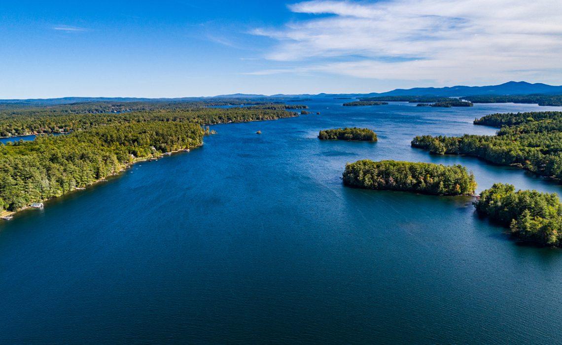 Lakes Region NH - aerial view of Lake Winnipesaukee NH